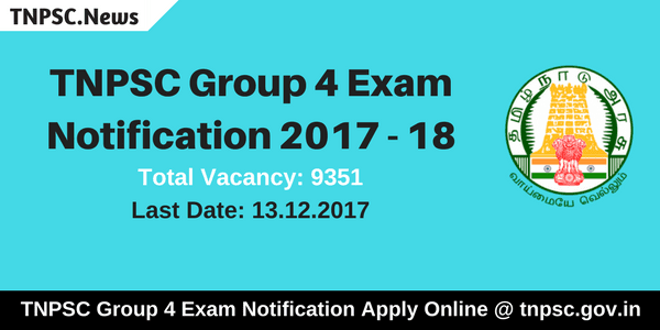 TNPSC Group 4 Exam Notification