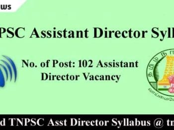 TNPSC Assistant Director Sylllabus