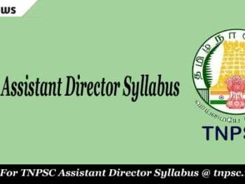 TNPSC Assistant Director Syllabus
