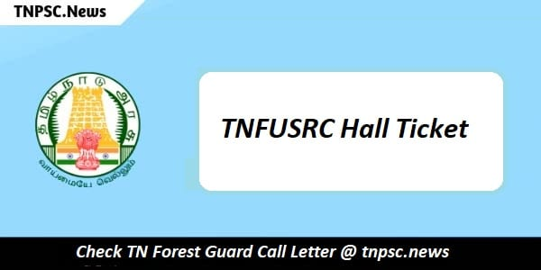 TNFUSRC Hall Ticket