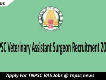 TNPSC Veterinary Assistant Surgeon Recruitment