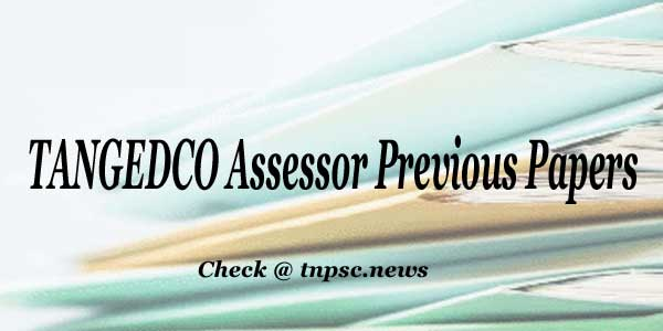 TANGEDCO Assessor Previous Papers